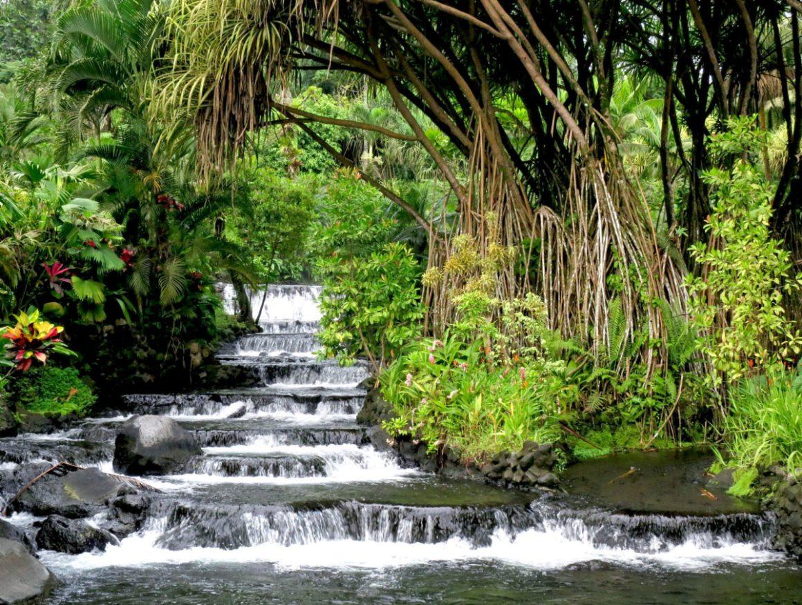 Sources d'eaux chaudes du volcan Arenal, aux Costa Rica.