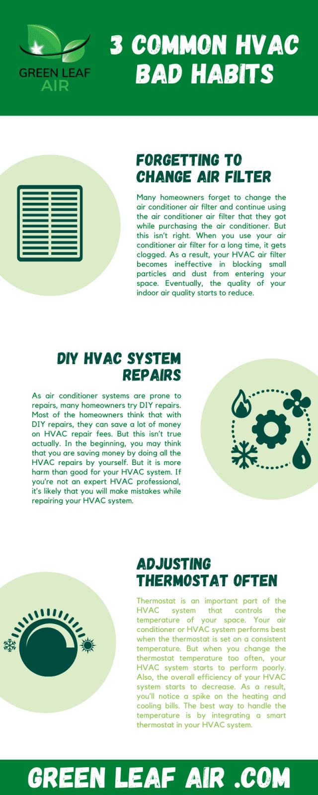 3 Common HVAC Bad Habits