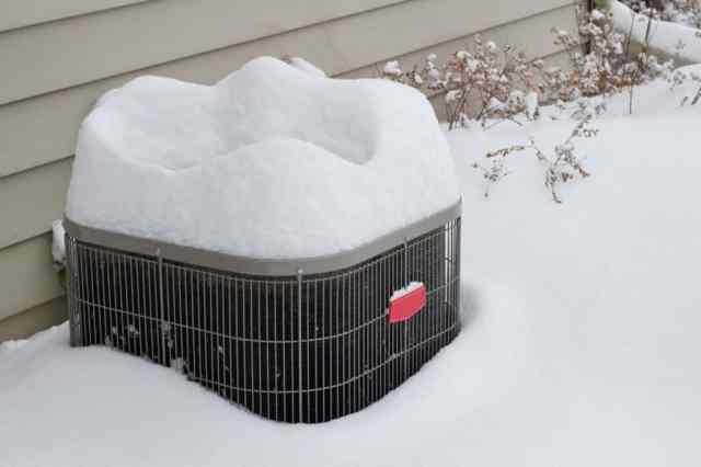 HVAC System in Snow