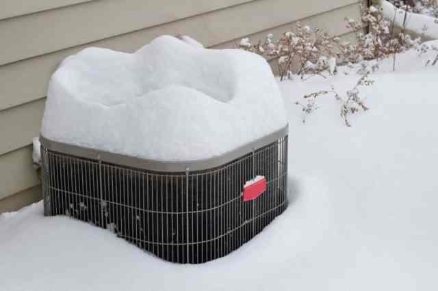 HVAC System in Snow
