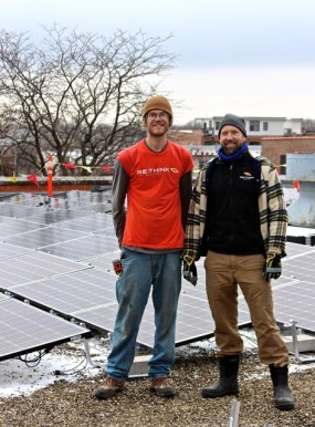 Professional installers Josh Richardson and Dan Schmidt from ReThink Electric