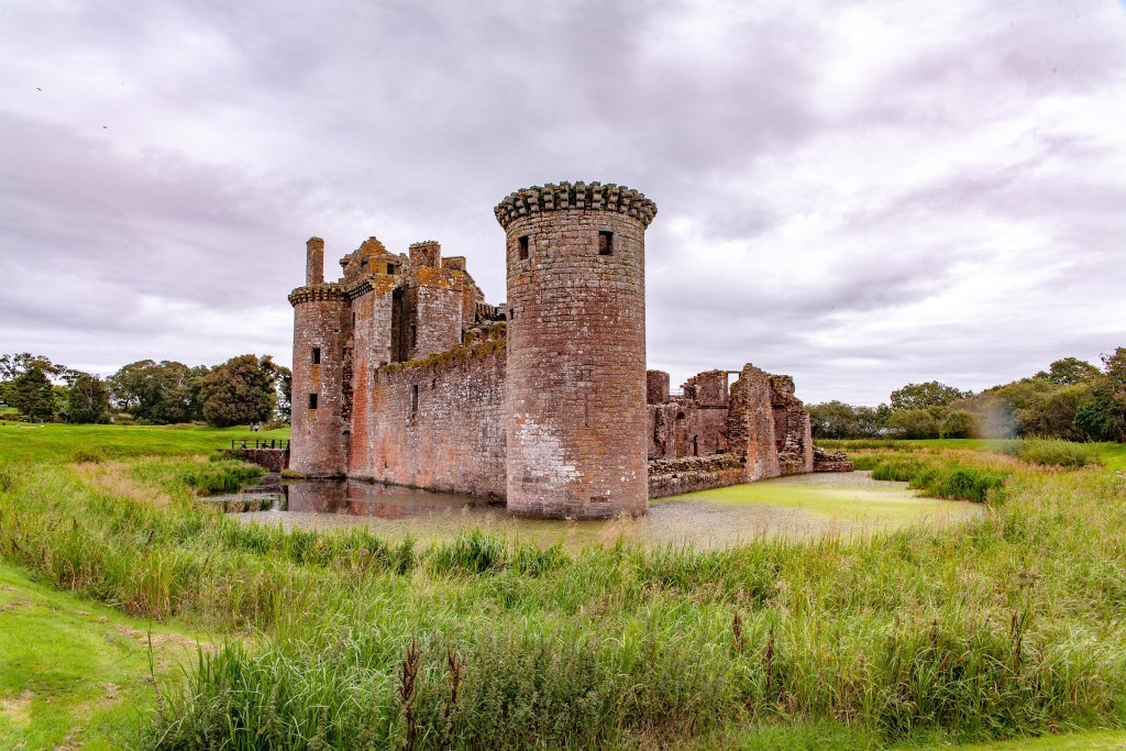 Caerlaverock Castle in Northern England