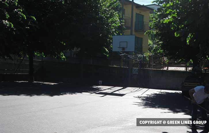 Realizzazione campo da basket a Portichetto