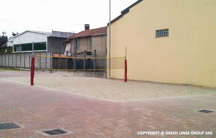 Realizzazione campo da beach volley a Garlasco