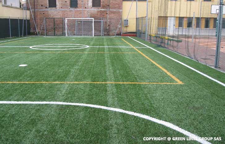 Realizzazione campo da calcio a 5 a Sannazzaro de' Burgondi