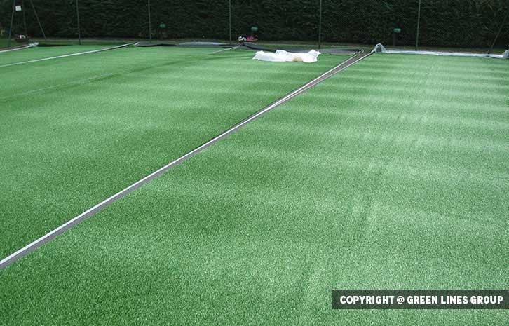 Realizzazione campo da tennis a Trivolzio