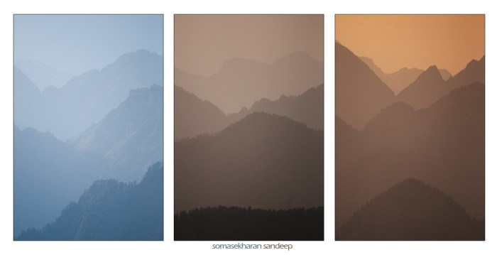 Layers and layers of mountains