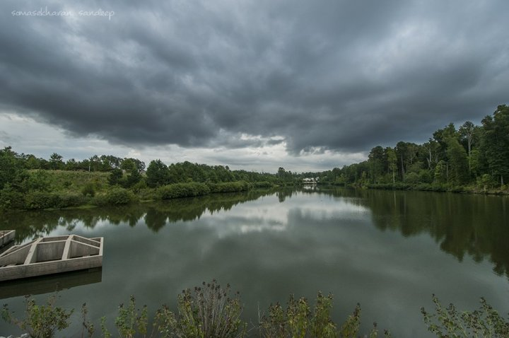 Skies threaten a storm