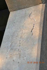Cracked Concrete Bridge Pylon