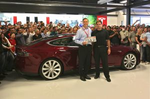 First Tesla Model S Delivered - June 2012