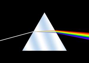 Optical Prism Dispersing Light into Individual Wavelengths