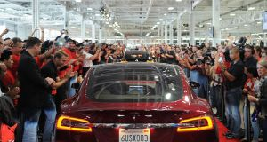 June 2012 Tesla Model S First Deliveries