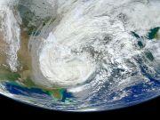 Hurricane Sandy Smashing Northeast US on October 30, 2012