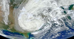 Hurricane Sandy Smashing Northeast US on October 30, 2012