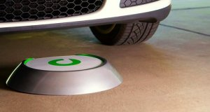 Plugless Power's Wireless Inductive Charger Matches to a Receiver Mounted Under an Electric Vehicle