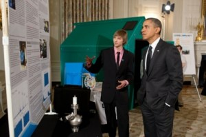 Taylor Wilson and Obama