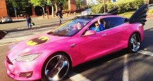 Google Co-Founder Sergey Brin's Tesla Model S After His Employees Got a Hold of It