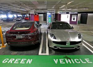Tesla Model S [left], Green or Not?