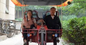 Solar-Powered Tricycle from Shenyang, China. Did we mention it's a home-brew?