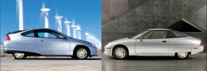 GM EV1 [R] and Silver Streak [L] AKA The EV2