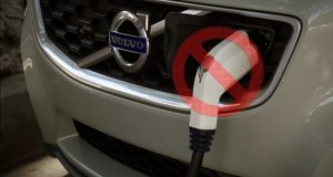 Charging Cord on Volvo C30 Electric Vehicle, Unnecessary