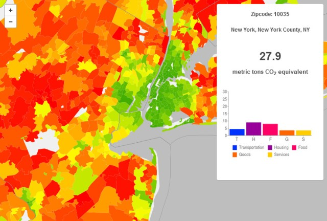 "New York City is the ""eye"" of a suburban carbon dioxide ""hurricane"""