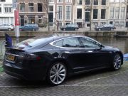 On of the few Tesla Motors' vehicles in the UK.