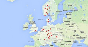 Tesla Superchargers to cover Europe by the end of the year.