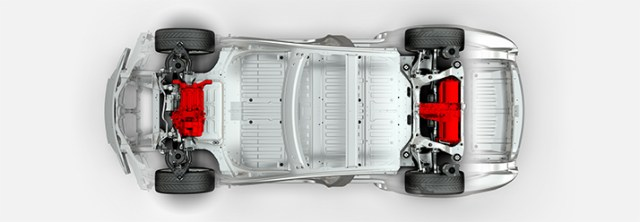 "Tesla ""D"" for ""Dual Motor"" All-Wheel Drive"