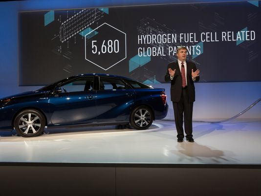 "Toyota ""All our hydrogen fuel cell patent are belong to you"" for a limited time."