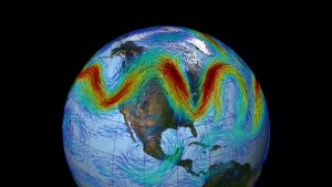 Jet stream image from NASA