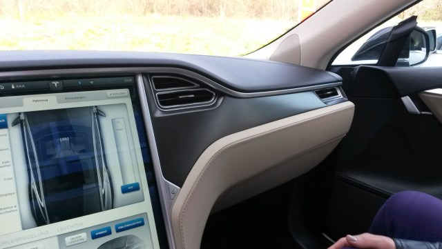 Great dashboard design - simple aesthetics are characteristic of Tesla cars