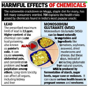 Harmful effects of lead and MSG