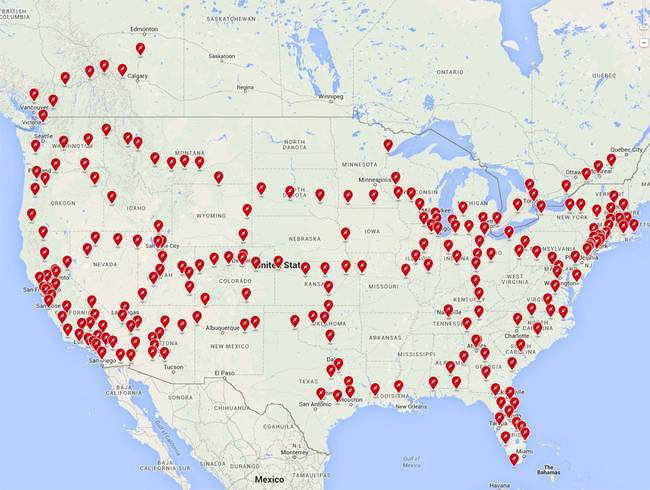 New Charging Station Map Displays Tesla\'s Success - The Green Optimistic