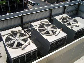 Air conditioning units like these will soon be regulated by the DOE.