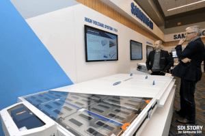Samsung SDI shows off numerous electric vehicle battery improvements.