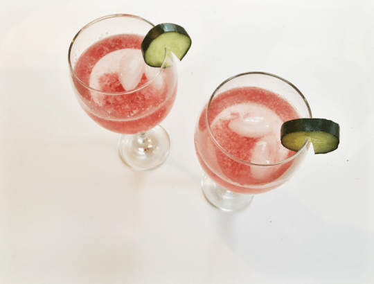 Low-Sugar Strawberry Cucumber Cocktail