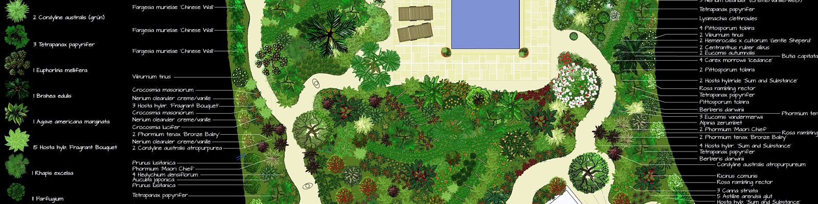 Green Parrot Gardens | Successful Planning | Exotic Garden Plan near St Tropez