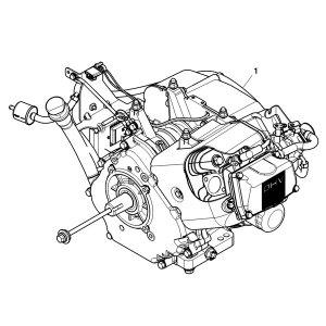 John Deere Complete Kawasaki Engine  MIA12647