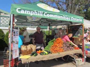 Camphill vegetables at Barrie public market (Victoria Fenner)