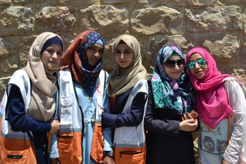 Youth workers on a day out in Hebron (David Kattenburg)