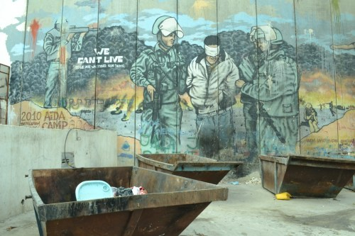 Occupation art on Israel's Separation Wall, Beit Jala.