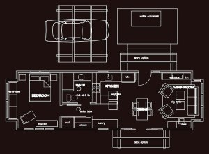 small house floorplan with carport
