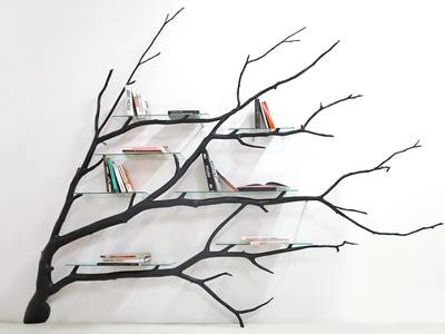 Fallen tree branches transformed into elegant furniture