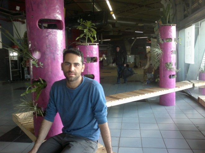 garden guerrillas attack tel aviv bus station