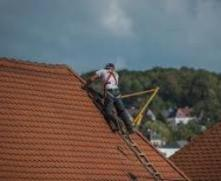 man at the roof