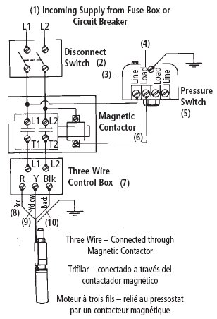 3 wire submersible well pump wiring diagram  auto