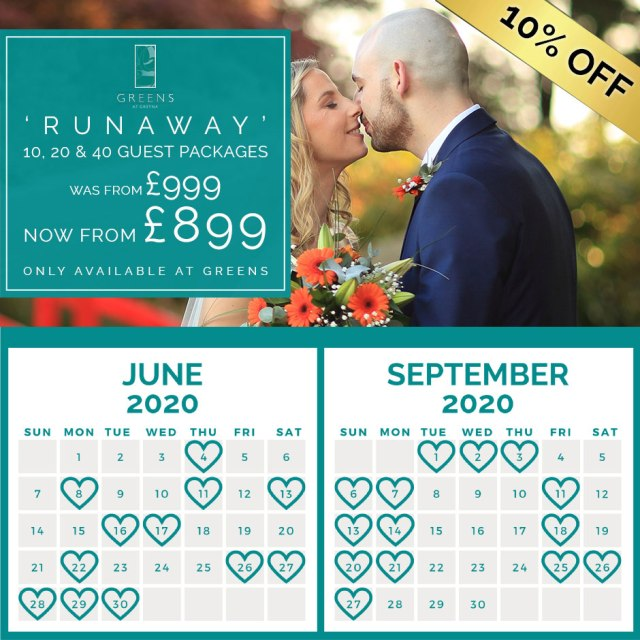 Runaway 10% Off Package