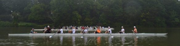 Up to a dozen crews are expected to line the start at Skeet Club Bridge on Oak Hollow Lake on Saturday for the Anniversary Row.