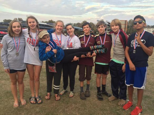 Greensboro rowers are delighted with their silver medal performance at the 2016 Head of the South regatta.